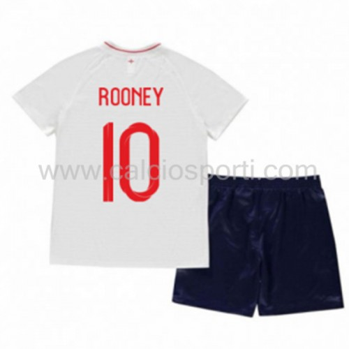 England Kids 2018 World Cup Wayne Rooney 10 Short Sleeve Home Soccer Jersey