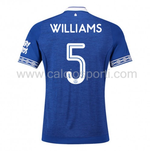 Everton 2018-19 Ashley Williams 5 Short Sleeve Home Soccer Jersey
