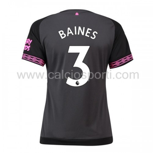 Everton 2018-19 Leighton Baines 3 Short Sleeve Away Soccer Jersey