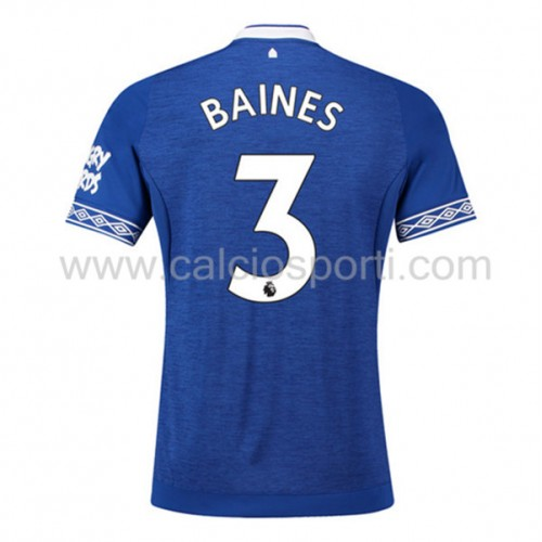 Everton 2018-19 Leighton Baines 3 Short Sleeve Home Soccer Jersey