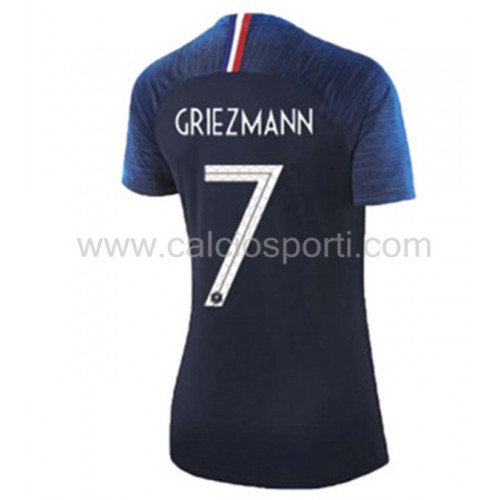 France Womens 2018 World Cup Antoine Griezmann 7 Short Sleeve Home Soccer Jersey