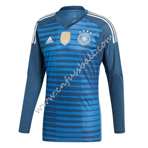 Germany 2018 Goalkeeper Long Sleeve Home Soccer Jersey