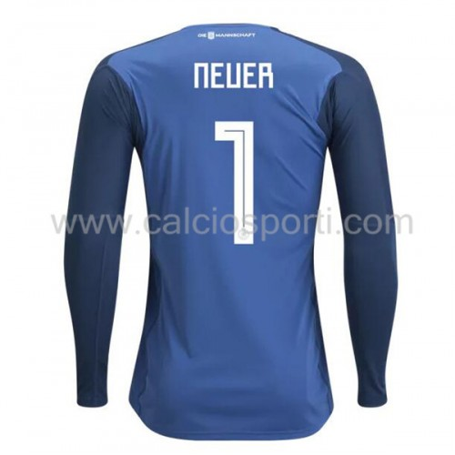 Germany 2018 Goalkeeper Neuer 1 Long Sleeve Home Soccer Jersey