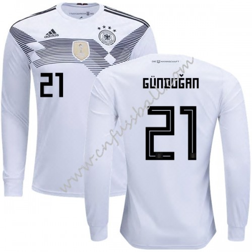 Germany 2018 Ilkay Gundogan 21 Long Sleeve Home Soccer Jersey