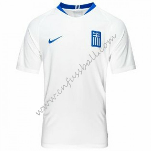 Greece 2018 Short Sleeve Away Soccer Jersey