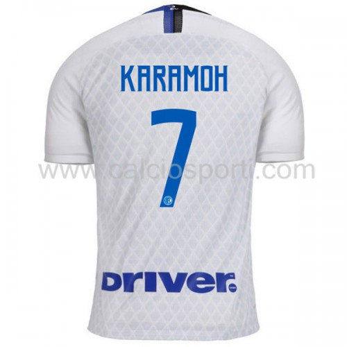 Inter Milan 2018-19 Yann Karamoh 7 Short Sleeve Away Soccer Jersey