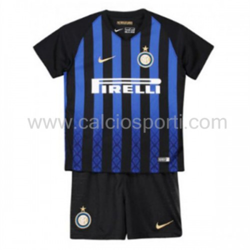 Inter Milan Kids 2018-19 Short Sleeve Home Soccer Jersey