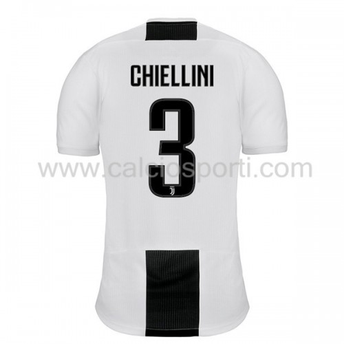 Juventus 2018-19 Giorgio Chiellini 3 Short Sleeve Home Soccer Jersey