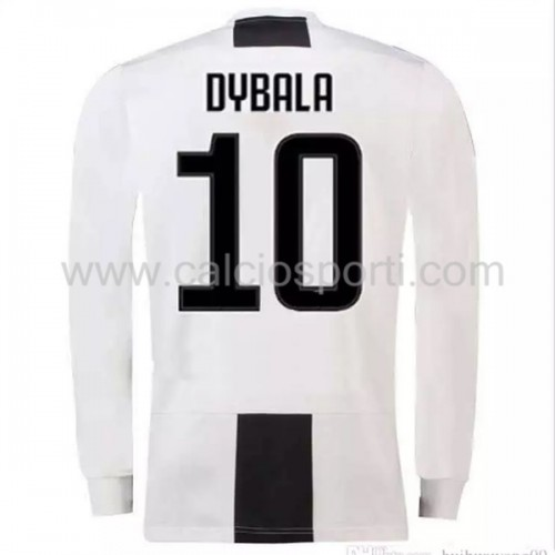 Juventus 2018-19 Paulo Dybala 10 Long Sleeve Home Soccer Jersey