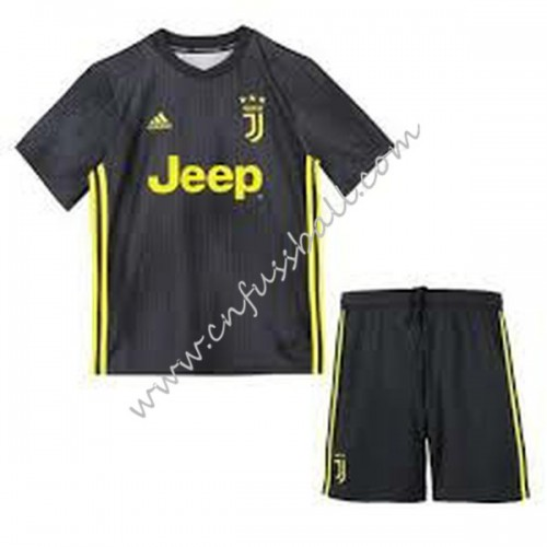 Juventus Kids 2018-19 Short Sleeve Third Soccer Jersey