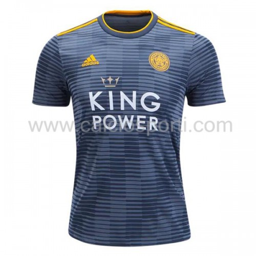 Leicester City 2018-19 Short Sleeve Away Soccer Jersey