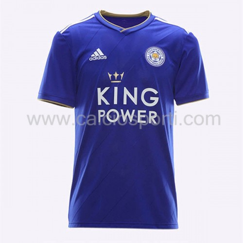Leicester City 2018-19 Short Sleeve Home Soccer Jersey