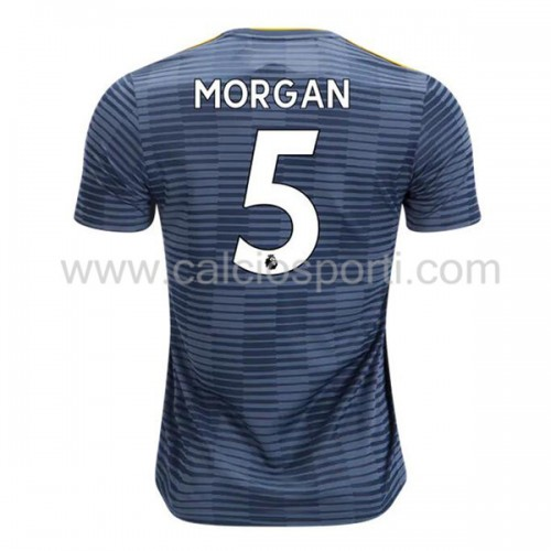 Leicester City 2018-19 Wes Morgan 5 Short Sleeve Away Soccer Jersey