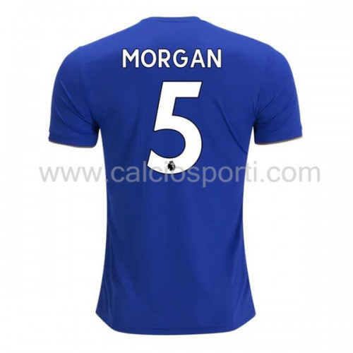 Leicester City 2018-19 Wes Morgan 5 Short Sleeve Home Soccer Jersey