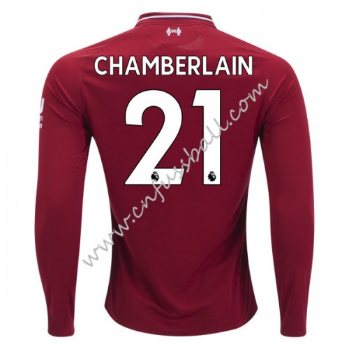 Liverpool 2018-19 Alex Chamberlain 21 Long Sleeve Home Soccer Jersey