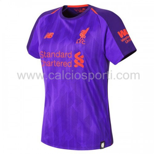 Liverpool Womens 2018-19 Short Sleeve Away Soccer Jersey