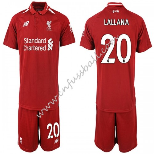 Liverpool Kids 2018-19 Adam Lallana 20 Short Sleeve Home Soccer Jersey