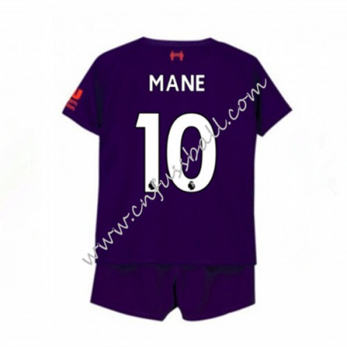 Liverpool Kids 2018-19 Sadio Mane 10 Short Sleeve Away Soccer Jersey