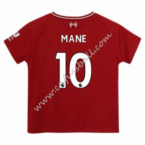 Liverpool Kids 2018-19 Sadio Mane 10 Short Sleeve Home Soccer Jersey