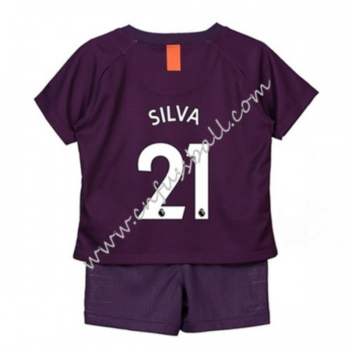 Manchester City Kids 2018-19 David Silva 21 Short Sleeve Third Soccer Jersey