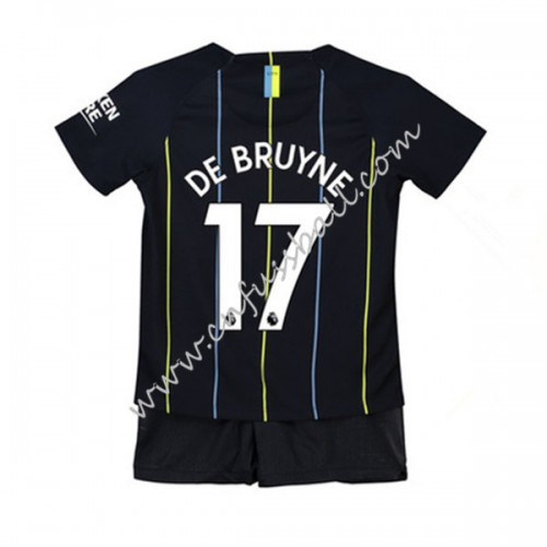 Manchester City Kids 2018-19 De Bruyne 17 Short Sleeve Away Soccer Jersey
