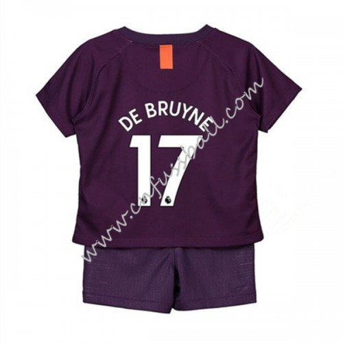 Manchester City Kids 2018-19 De Bruyne 17 Short Sleeve Third Soccer Jersey