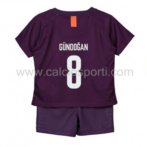 Manchester City Kids 2018-19 Ilkay Gundogan 8 Short Sleeve Third Soccer Jersey