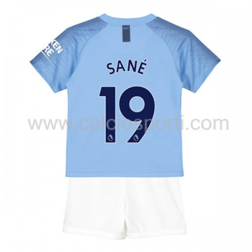 Manchester City Kids 2018-19 Leroy Sané 19 Short Sleeve Home Soccer Jersey