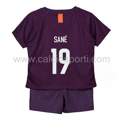 Manchester City Kids 2018-19 Leroy Sané 19 Short Sleeve Third Soccer Jersey