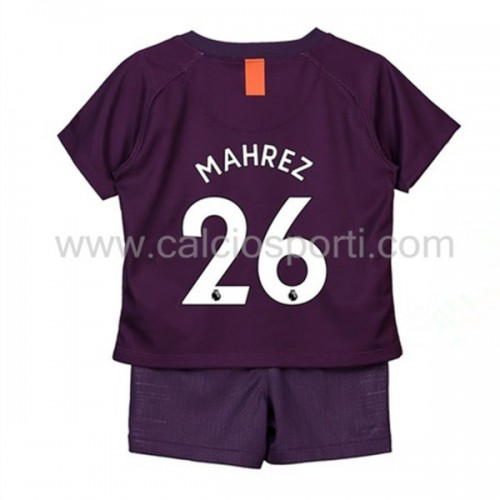 Manchester City Kids 2018-19 Mahrez 26 Short Sleeve Third Soccer Jersey