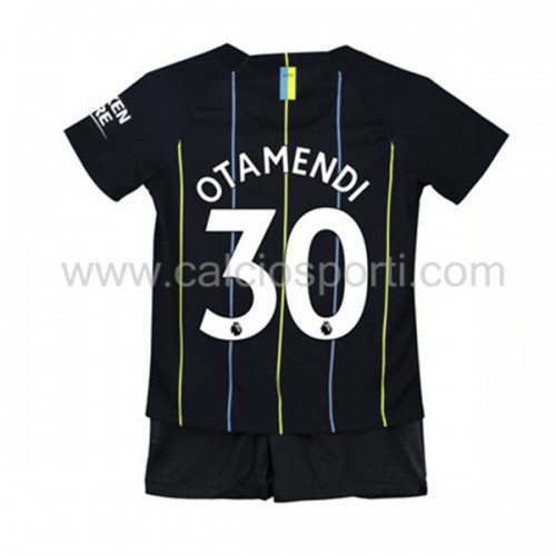 Manchester City Kids 2018-19 Nicolas Otamendi 30 Short Sleeve Away Soccer Jersey