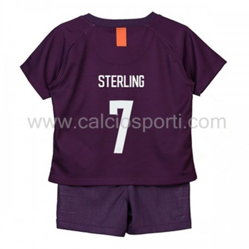 Manchester City Kids 2018-19 Raheem Sterling 7 Short Sleeve Third Soccer Jersey