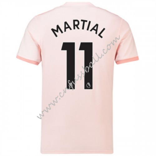 Manchester United 2018-19 Anthony Martial 11 Short Sleeve Away Soccer Jersey