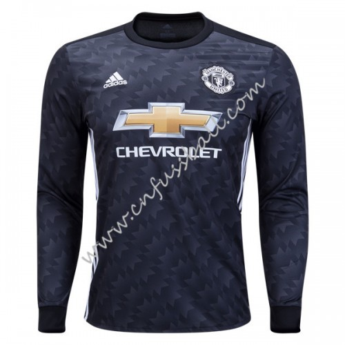 Manchester United 2018-19 Long Sleeve Away Soccer Jersey