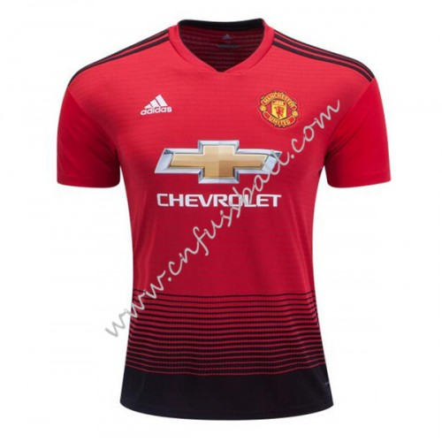 Manchester United 2018-19 Short Sleeve Home Soccer Jersey