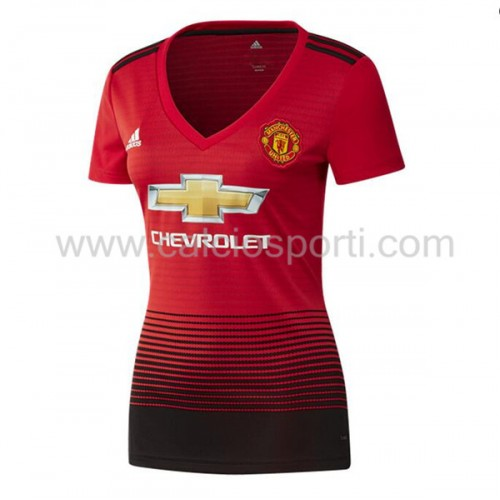 Manchester United Womens 2018-19 Short Sleeve Home Soccer Jersey