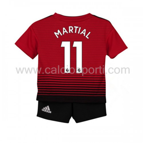 Manchester United Kids 2018-19 Anthony Martial 11 Short Sleeve Home Soccer Jersey