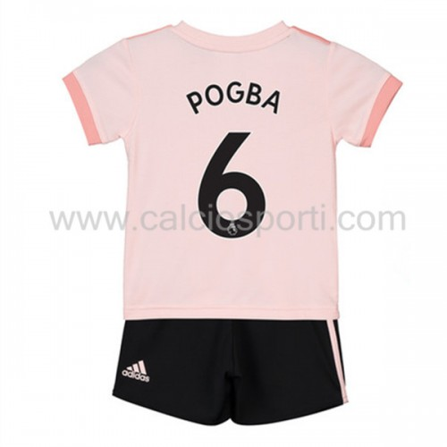 Manchester United Kids 2018-19 Paul Pogba 6 Short Sleeve Away Soccer Jersey