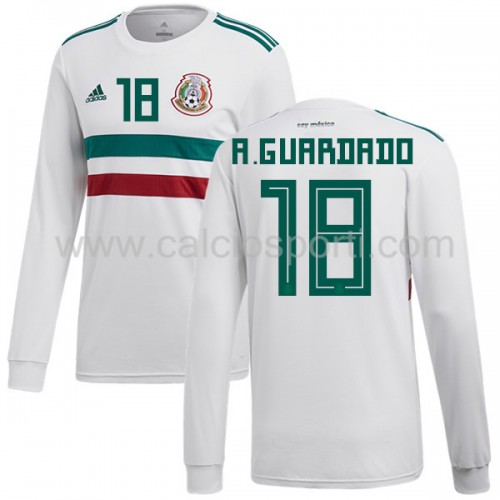 Mexico 2018 Andres Guardado 18 Long Sleeve Away Soccer Jersey