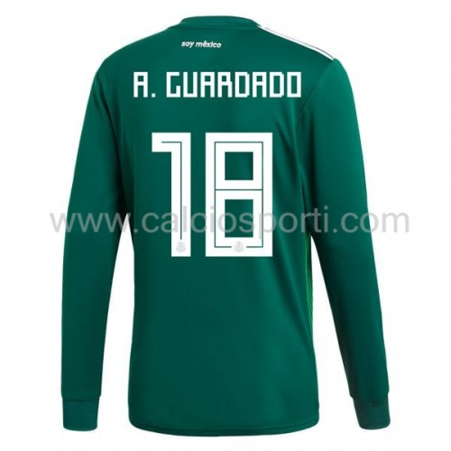 Mexico 2018 Andres Guardado 18 Long Sleeve Home Soccer Jersey