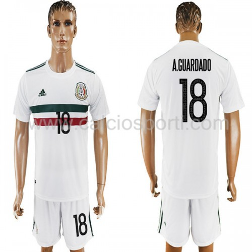 Mexico 2018 Andres Guardado 18 Short Sleeve Away Soccer Jersey