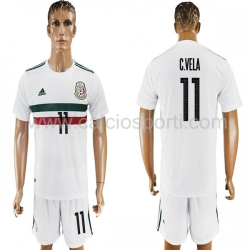 Mexico 2018 Carlos Vela 11 Short Sleeve Away Soccer Jersey