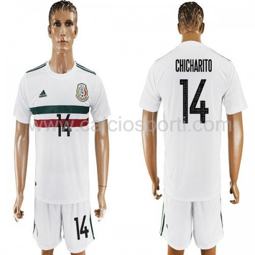 Mexico 2018 Chicharito 14 Short Sleeve Away Soccer Jersey