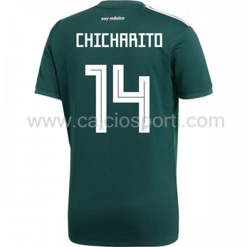 Mexico 2018 Chicharito 14 Short Sleeve Home Soccer Jersey