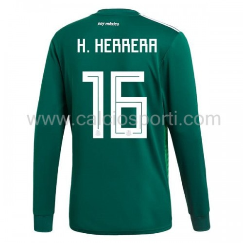 Mexico 2018 Hector Herrera 16 Long Sleeve Home Soccer Jersey