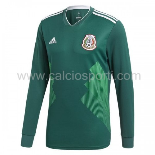 Mexico 2018 Long Sleeve Home Soccer Jersey