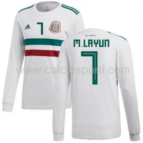 Mexico 2018 Miguel Layun 7 Long Sleeve Away Soccer Jersey