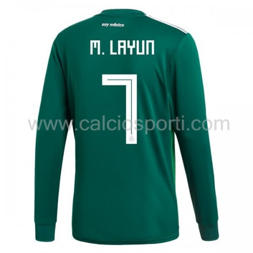 Mexico 2018 Miguel Layun 7 Long Sleeve Home Soccer Jersey
