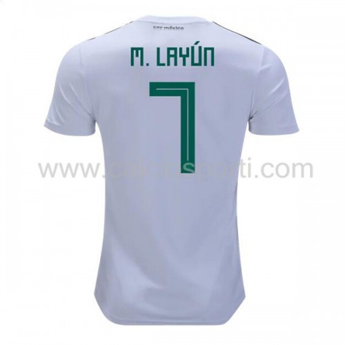 Mexico 2018 Miguel Layun 7 Short Sleeve Away Soccer Jersey