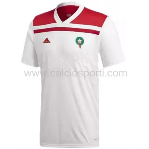 Morocco 2018 Short Sleeve Away Soccer Jersey